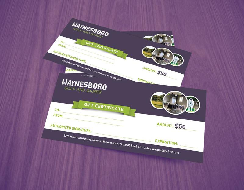 Waynesboro Golf & Games $50 Gift Certificate