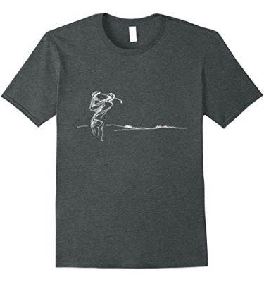 Golf Sketch T-Shirt Grey